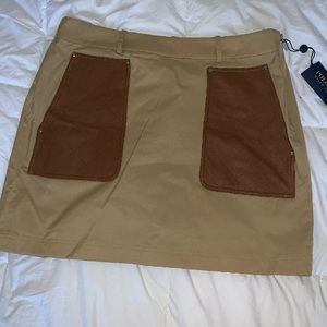 Ralph Lauren Tan Mini Skirt